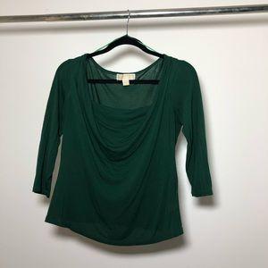 Michael Kors Dark Green Blouse Top